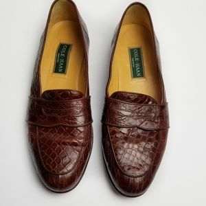 Cole Haan Genuine Crocodile Leather Loafers 12M
